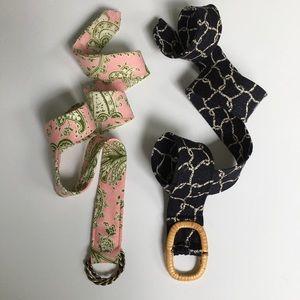 J Crew & J Crew Factory Cloth Tie Belt Lot